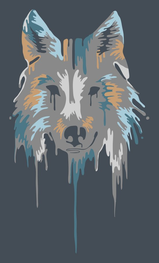 Painted Wolf Art Print