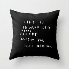 TOTAL CRAP Throw Pillow
