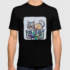 Juggler with Cat Mens Fitted Tee Black SMALL