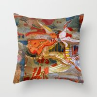 Mechancial Nature Throw Pillow