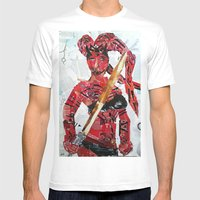 DARTH TALON Mens Fitted Tee White SMALL