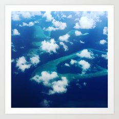 Islands and Clouds Art Print