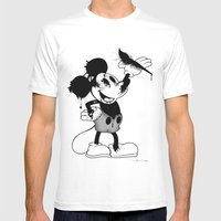 Epic Mickey Mens Fitted Tee White SMALL