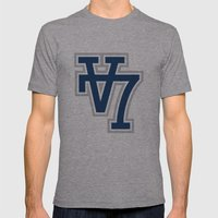 V7 - Darkside Mens Fitted Tee Athletic Grey SMALL