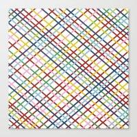 Weave 45 Zoom Canvas Print