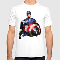 Polygon Heroes - Captain… Mens Fitted Tee White SMALL