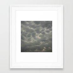 Outrageous Storm Clouds Framed Art Print