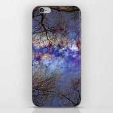Fantasy stars. Milkyway through the trees. iPhone & iPod Skin