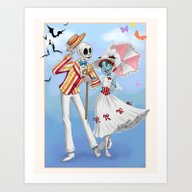 Art Print featuring A Jolly Nightmare by Brianna