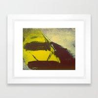 New York Yellow Taxi Cab Framed Art Print