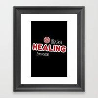 Free Healing Framed Art Print