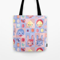 Happy Easter! Pattern Tote Bag