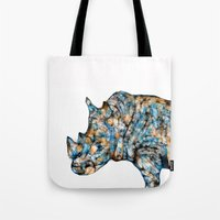 Rhino-no Text Tote Bag