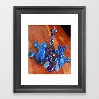 Blue Dragonfly Framed Art Print