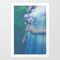 In Her Dreams She Roamed… Art Print