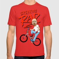 Breaking Rad Mens Fitted Tee Red SMALL