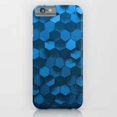 Blue Hexagon Abstract Pa… iPhone 6 Slim Case