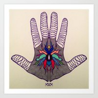 Hand Of Happiness  Art Print