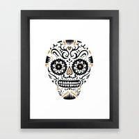 Sugar Skull SF - white Framed Art Print