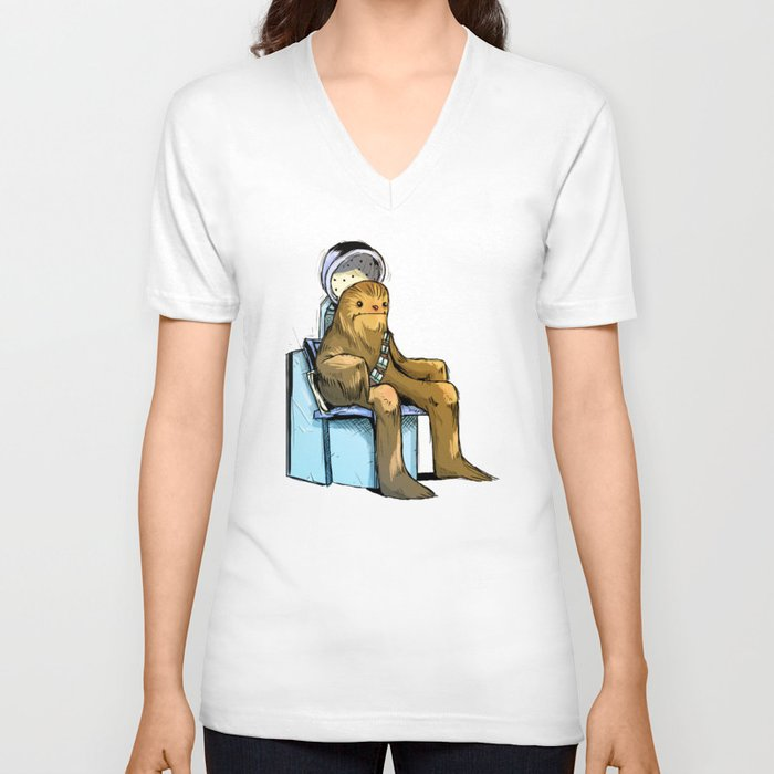 Beauty salon unisex v neck by vincent vernacatola society6 for Beauty salon t shirts