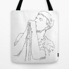 Ian Curtis WordsPortrait Tote Bag