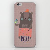 Big Bear And Bluebird Pi… iPhone & iPod Skin