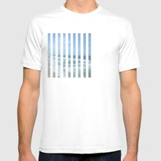 Up Up Up White Mens Fitted Tee SMALL