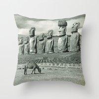 EASTER ISLAND VISTA Throw Pillow