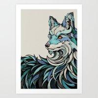 Berlin Fox Art Print