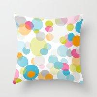 Multi dots Throw Pillow