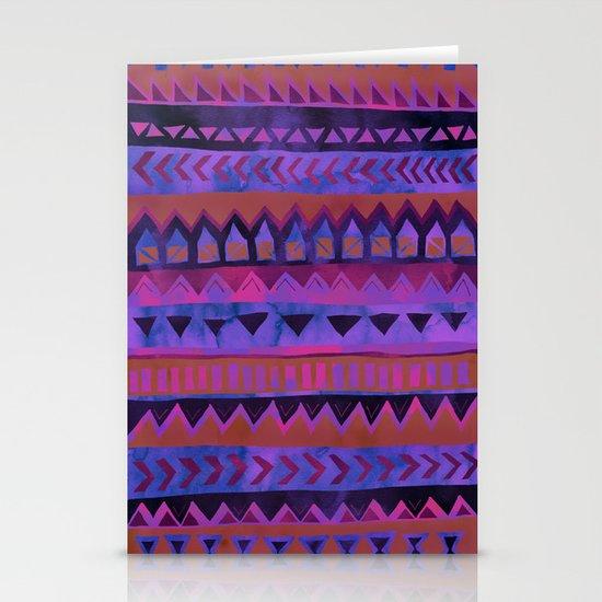 PATTERN {Tribal Stripe- Purple} Stationery Card