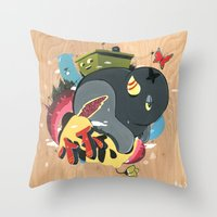 Blooming #2 Throw Pillow