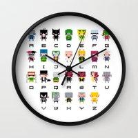 Pixel Supervillain Alpha… Wall Clock