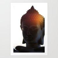 Buddha Lights Art Print