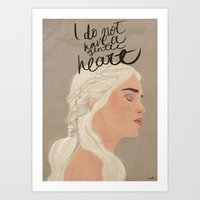 I Do Not Have A Gentle H… Art Print