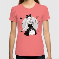 Comic Love Womens Fitted Tee Pomegranate SMALL