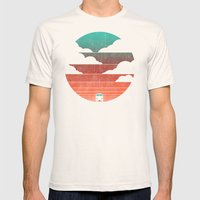 Go West Mens Fitted Tee Natural SMALL