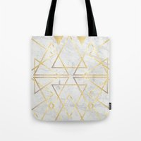 wire gOld triangle Tote Bag
