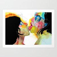 Kiss 03 Art Print