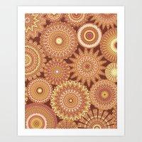 Kaleidoscopic-Canyon Col… Art Print