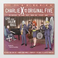 Charlie X and the Original Five: Live at Salem Hall Canvas Print
