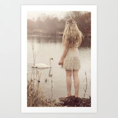 The swan fairy Art Print