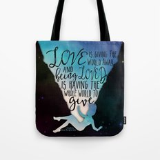 The Love That Split The World - Being Loved Tote Bag