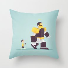 the robot my dad never gave me Throw Pillow