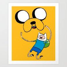 Adventure Time - FAN ART Art Print
