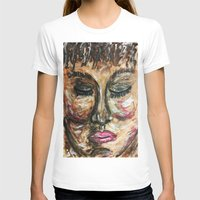 COTE D'IVORIENNE Womens Fitted Tee White SMALL