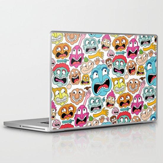 Weird Faces Laptop & iPad Skin