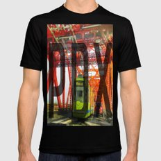 Portland, Oregon  Mens Fitted Tee Black SMALL