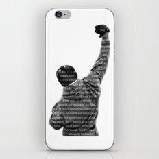 How Hard You Get Hit - Rocky Balboa iPhone & iPod Skin