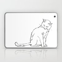 Cat Illustration Laptop & iPad Skin